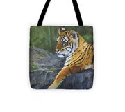 Resting Place - Tiger Cub Tote Bag