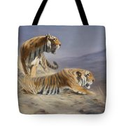 Resting Tigers Tote Bag