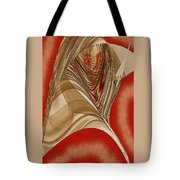 Resting Woman - Portrait In Red Tote Bag