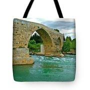 Restored Roman Bridge Over Eurynedan River-turkey Tote Bag