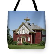 Restored Small Town School Tote Bag