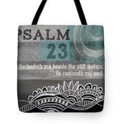 Restoreth My Soul- Contemporary Christian Art Tote Bag by Linda Woods