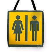 Restroom Sign Symbol For Men And Women Tote Bag