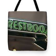 Restrooms In Neon Tote Bag