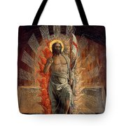 Resurrection Tote Bag by Andrea Mantegna