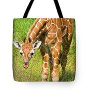 Reticulated Giraffe 6 Week Old Calf Tote Bag