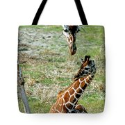 Reticulated Giraffe With Calf Tote Bag