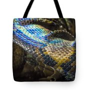 Reticulated Python With Rainbow Scales 2 Tote Bag