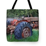Retired Tractor Tote Bag