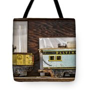 Retired Trains Tote Bag