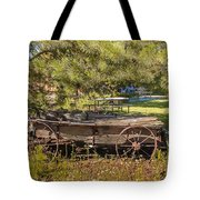 Retired Wagon At Thousand Trails Tote Bag