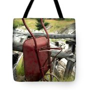 Retired Wheelbarrow Tote Bag