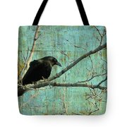 Retro Blue - Crow Tote Bag