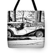 Retro Cabriolet Tote Bag