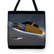 Retro Flying Objects Tote Bag