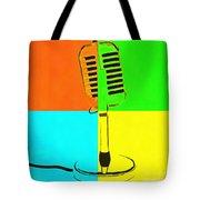 Retro Microphone Pop Art 2 Tote Bag