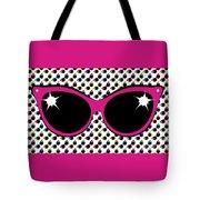 Retro Pink Cat Sunglasses Tote Bag