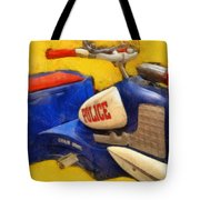 Retro Police Tricycle Tote Bag