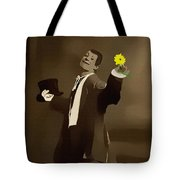 Retro Reproduction The Courtship Yellow Tote Bag