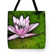 Retro Water Lilly Tote Bag by Bob Christopher