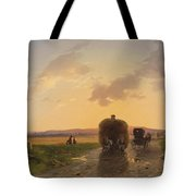 Return From The Field In The Evening Glow Tote Bag