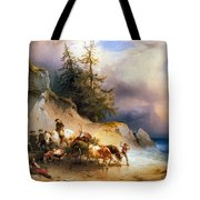 Return From The Mountain Pasture Tote Bag