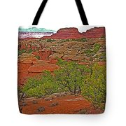 Return Trail To Elephant Hill In Needles District Of Canyonlands National Park-utah Tote Bag