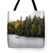 Returning From A Canoe Trip Tote Bag