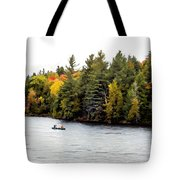 Returning From A Canoe Trip - V2 Tote Bag