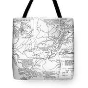 Revolutionary War Map, 1776 Tote Bag