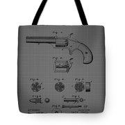 Revolver Firearm Patent Blueprint Drawing Tote Bag