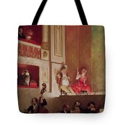 Revue At The Theatre Des Varietes, C.1885 Oil On Canvas Tote Bag