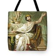 Rex Sacrificulus, Illustration Tote Bag