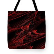 Rhapsody In Red V - Panorama - Abstract - Fractal Art Tote Bag by Andee Design