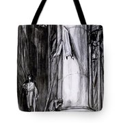 Rheims Cathedral, Scene From St Joan Tote Bag