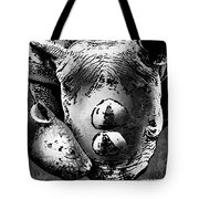 Rhino And Baby Tote Bag
