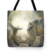 Rhino Love Tote Bag
