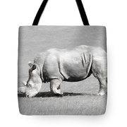 Rhinoceros Charcoal Drawing Tote Bag