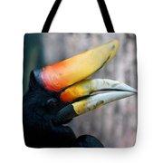 Rhinoceros Hornbill  Tote Bag by Ernie Echols