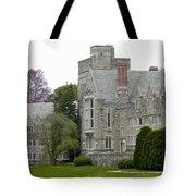 Rhoads Hall Bryn Mawr College Tote Bag by Georgia Fowler