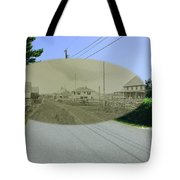 Rhode Island Road At Sakonnet Point In Little Compton Rhode Island Tote Bag
