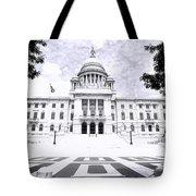 Rhode Island State House Bw Tote Bag