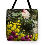 Rhodies And Tulips Tote Bag