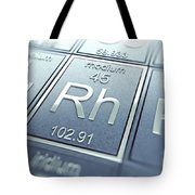 Rhodium Chemical Element Tote Bag