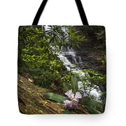 Rhododendron At The Falls Tote Bag