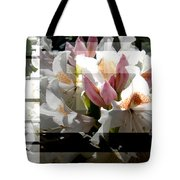 Rhododendron Collage Tote Bag