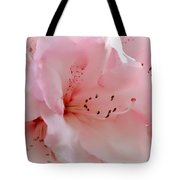 Pink Rhododendron Flower Tote Bag