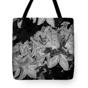 Rhododendron Heaven In Black And White Tote Bag