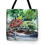 Rhododendrons In The Yard Tote Bag