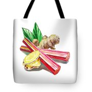 Rhubarb And Ginger Tote Bag